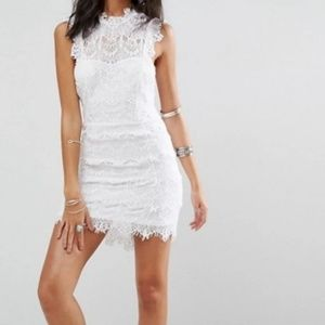 Free People White Daydream Bodycon Slip